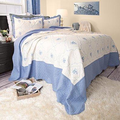 Lavish Home Brianna Embroidered Quilt 3 Pc. Set - Full/Queen