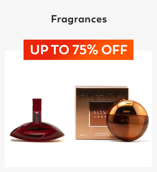 Up to 75% off Fragrances