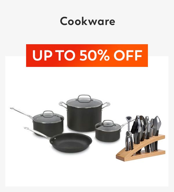 Tile Name: Up to 50% off Cookware