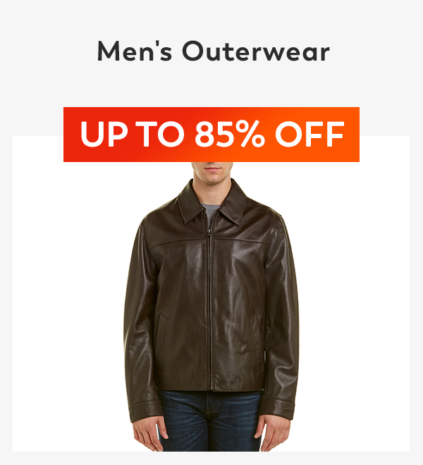 Up to 85% off Men's Outerwear