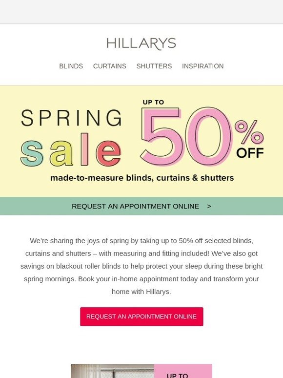 Hillarys Blinds Online >> Hillarys Blinds Save In Style With Our Spring Sale Milled