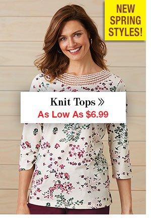 Shop Women's Knit Tops!