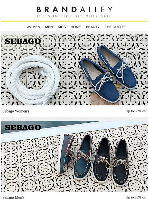 12f5ca45c556 brandalley uk limited: Sebago, Reiss, Vivienne Westwood, Dock & Bay Towels,  Iconic Trend Rugs, Nordic Chic Furniture, Luxe Linens, Avant Anti-Ageing ...