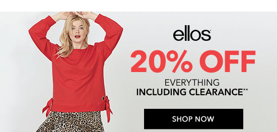 ellos 20% Off Everything Including Clearance