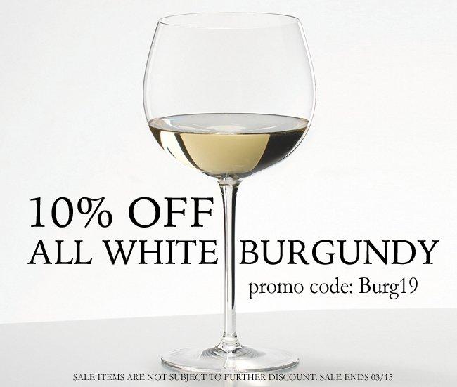 10% Off All White Burgundy