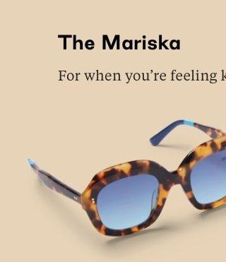 Mariska Blonde Tortoise | Blue Gradient Lens
