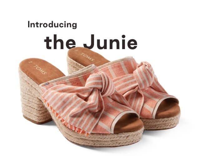 Orange Cabana Stripe with Knot Women's Junie Wedged Sandals