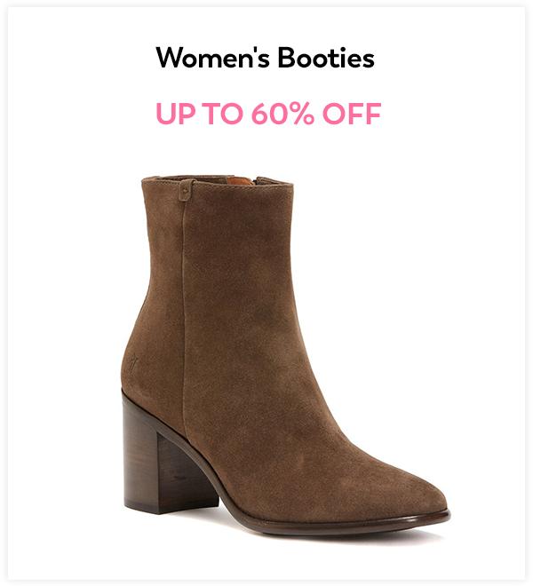 Up to 60% Off Women's Booties