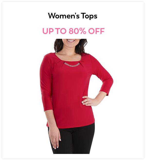 Up to 80% Off Women's Tops