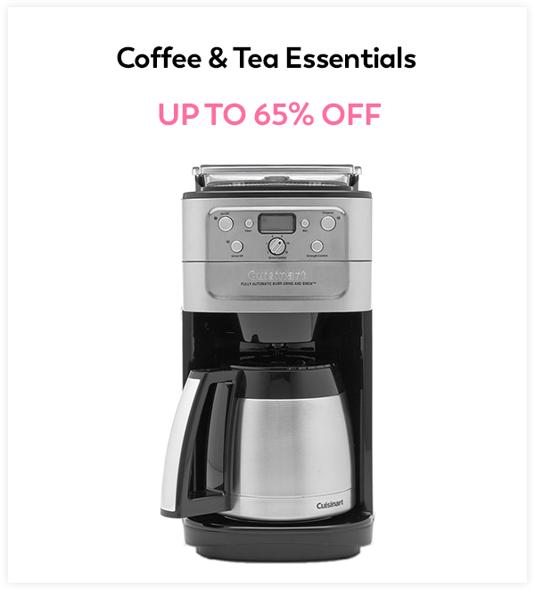 Up to 65% Off Coffee & Tea Essentials