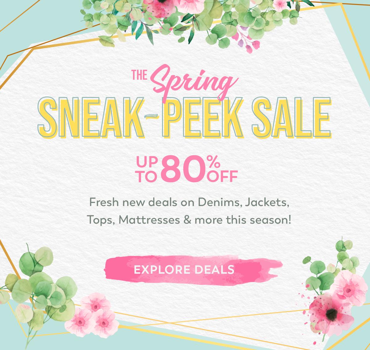 Spring Sneak Peek Sale