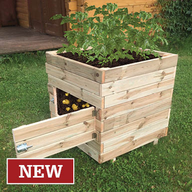 Solid Wooden Potato & Root Vegetable Planter