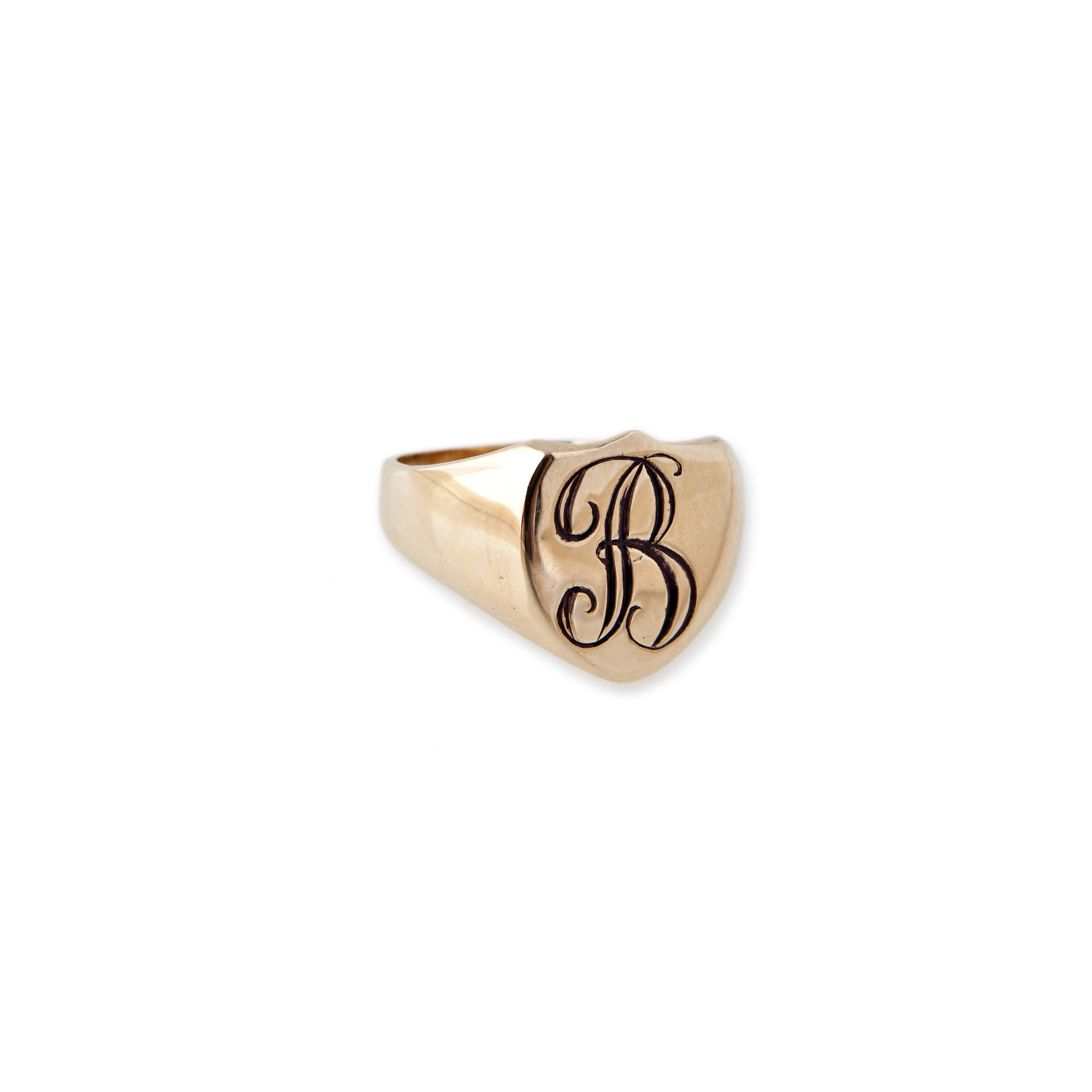 Image of SHIELD INITIAL SIGNET RING