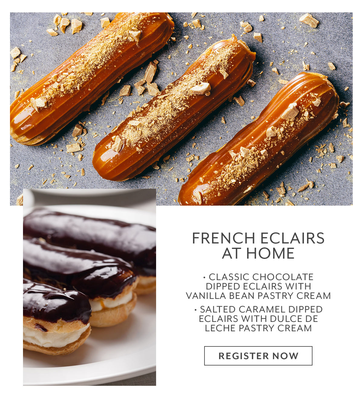 Class: French Eclairs at Home