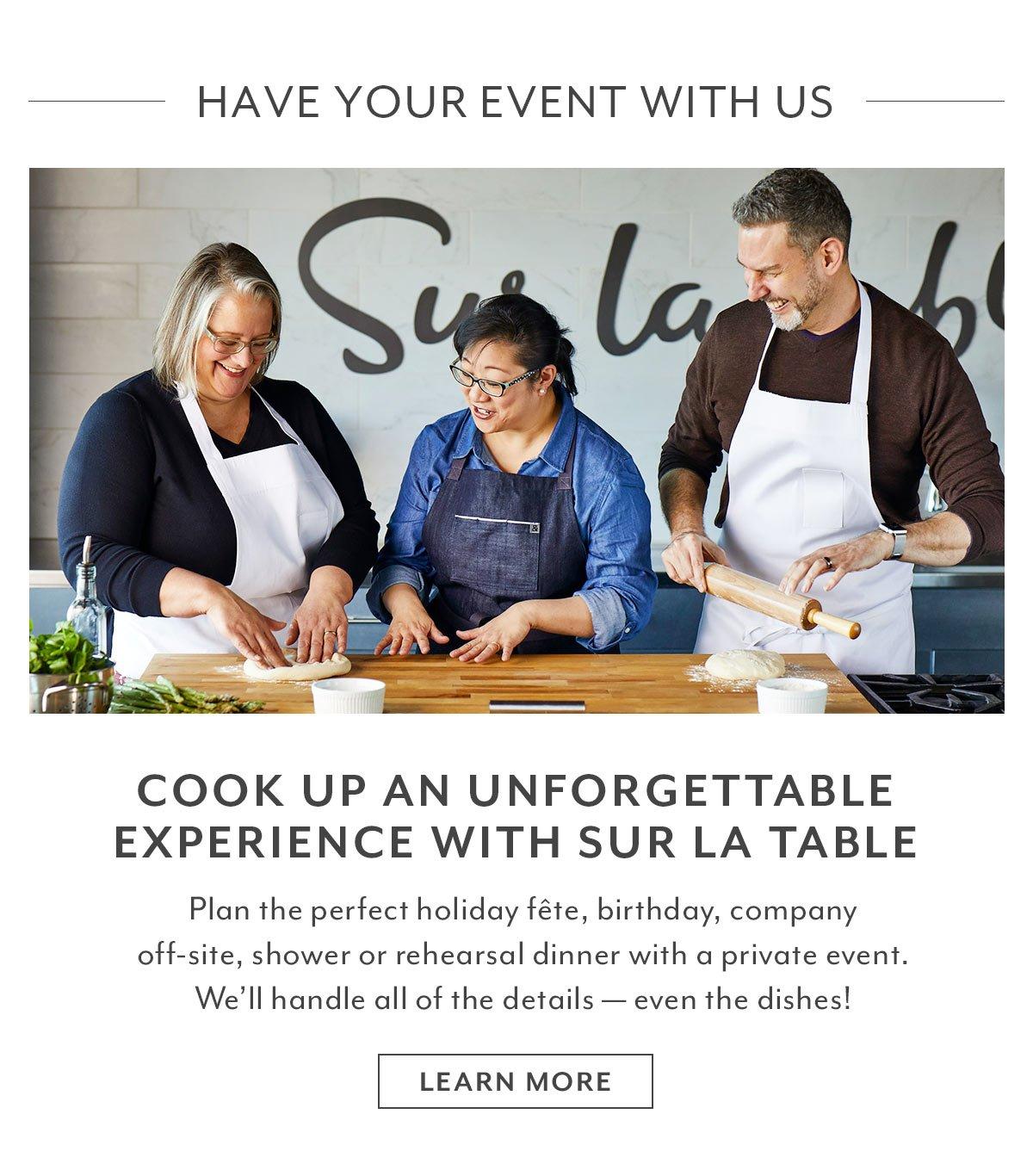 Sur La Table Private Events