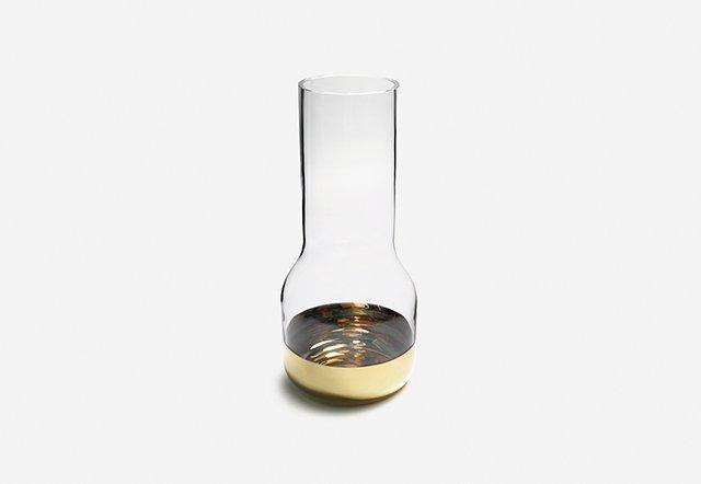 'Contour' gold vase