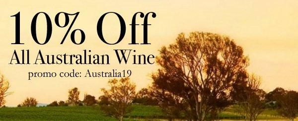 10% Off Australian Wine img link