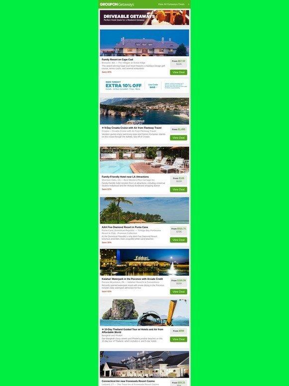 Groupon Extra 10 Off Your Next Getaway Cape Cod Resort
