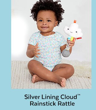 Silver Lining Cloud™ Rainstick Rattle