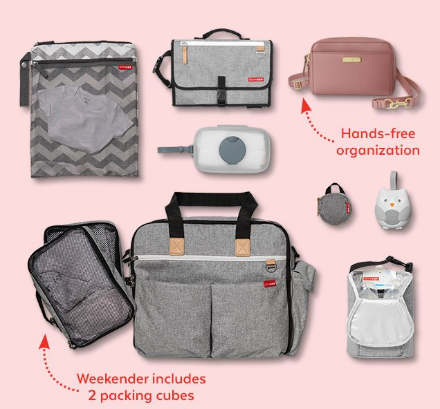Hands-free organization | Weekender includes 2 packing cubes