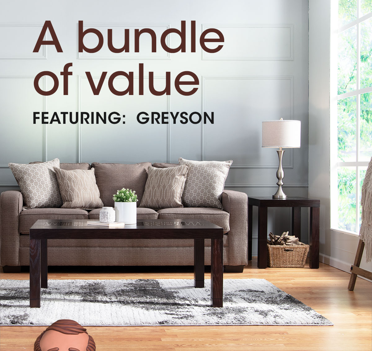 Bobs Discount Furniture My Greyson Complete Living Room Set For