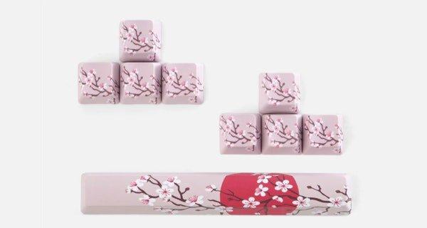 Massdrop: Sakura Flower Power Keycaps: Spacebar + WASD +