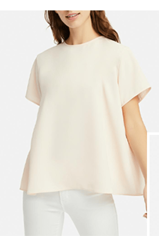 WOMEN DRAPE SHORT-SLEEVE BLOUSE $24.90