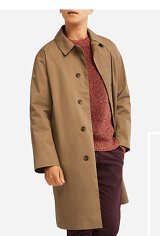 MEN BLOCKTECH CONVERTIBLE COAT $69.90