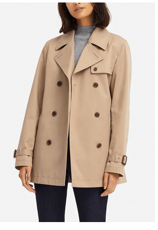 WOMEN SHORT TRENCH COAT $69.90