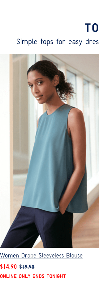 WOMEN DRAPE SLEEVELESS BLOUSE $14.90