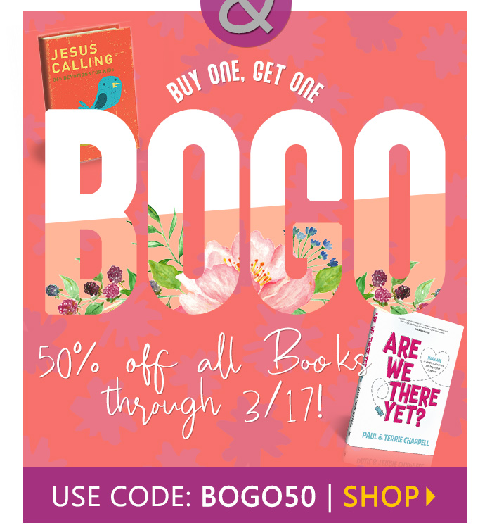 Buy One, Get One 50% off books