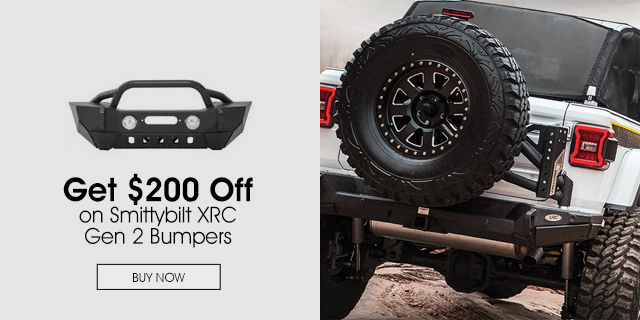 $200 Off on Smittybilt XRC Gen 2 Bumpers