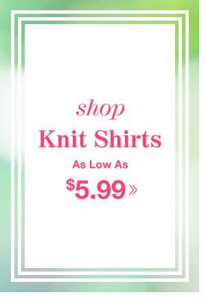 Shop Men's Knit Shirts!