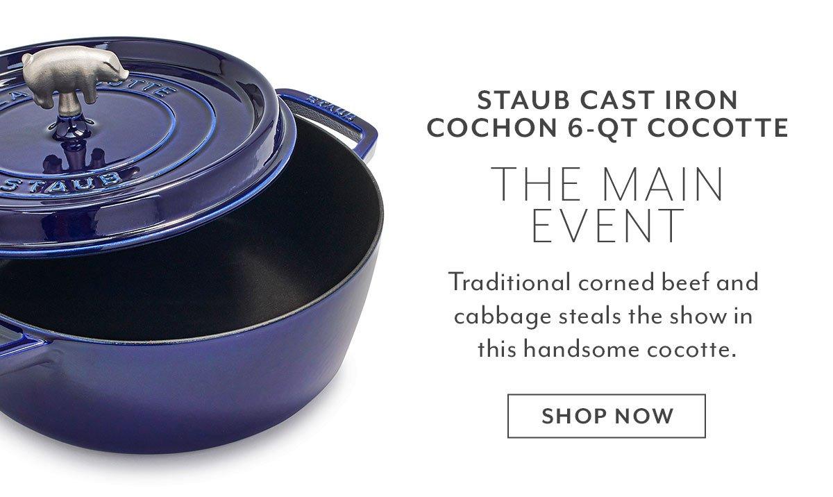 Staub Cast Iron Cochon 6-QT Cocotte