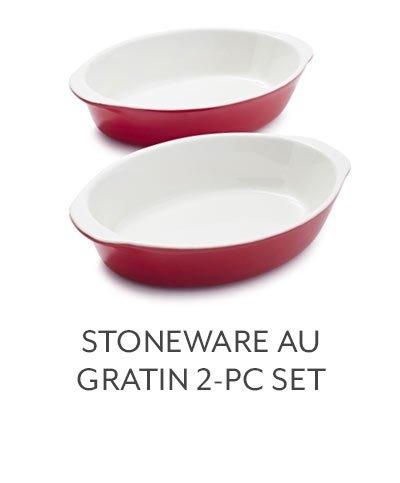 Stoneware Au Gratin 2-PC Set