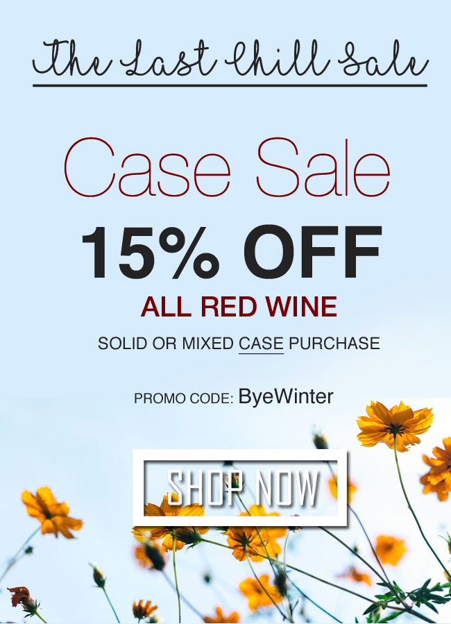 15% Off All Red Wine Cases - Solid and Mixed