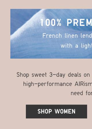 100% PREMIUM LINEN - SHOP WOMEN