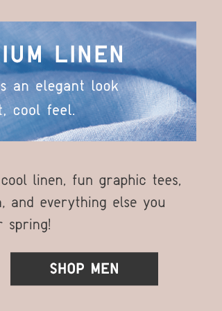100% PREMIUM LINEN - SHOP MEN