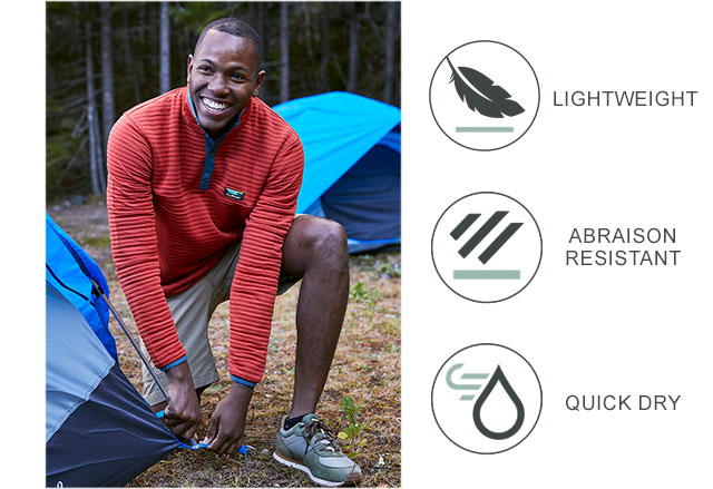 NEW COLORS. ABRASION RESISTANT. QUICK DRY. LIGHTWEIGHT