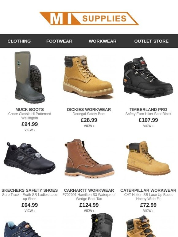 60178a980d550 MI Supplies: Muck Boots, Skechers, Timberland, Helly Hansen and More  Footwear Brands | Milled