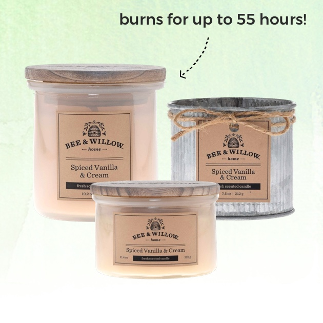 EXCLUSIVELY OURS℠ Bee & Willow™ Home Candles. Burns for up to 55 hours!
