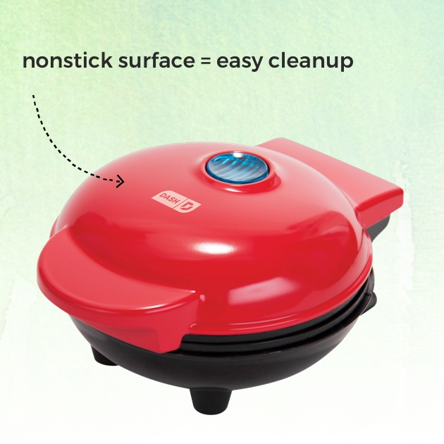 DASH™ Mini Waffle Maker. Nonstick surface = easy cleanup