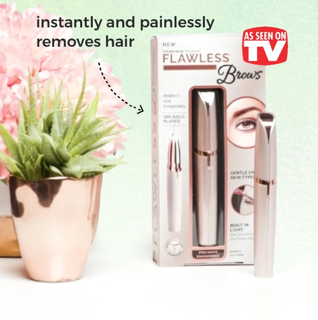 Flawless® Brows. Instantly and painlessly removes hair.