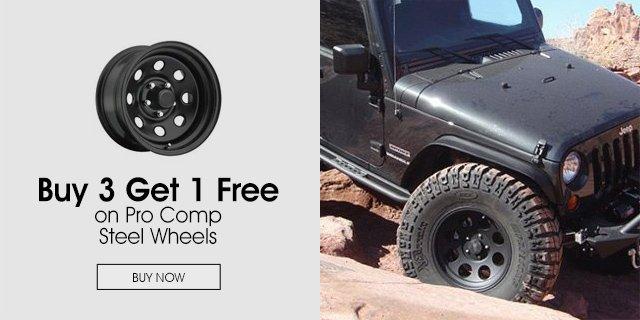 Buy 3 Get 1 Free on Pro Comp Steel Wheels