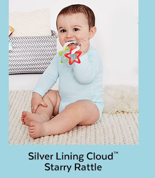 Silver Lining Cloud™ Starry Rattle
