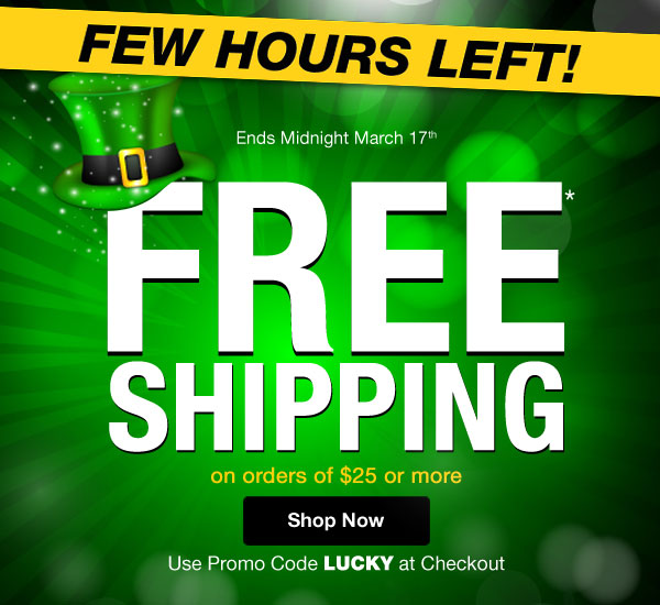 Get FREE SHIPPING on orders of $25 or more when you use promo code LUCKY at checkout.