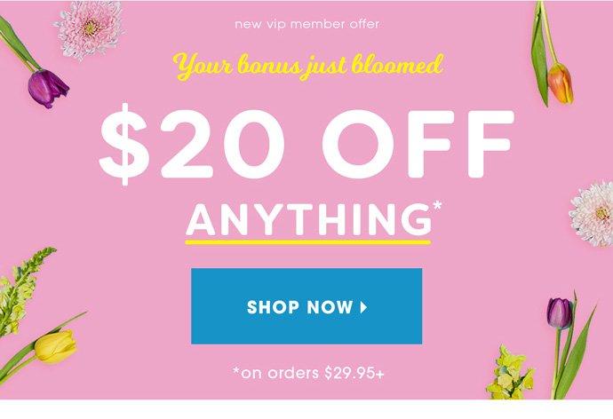 Shop $20 off $29.95