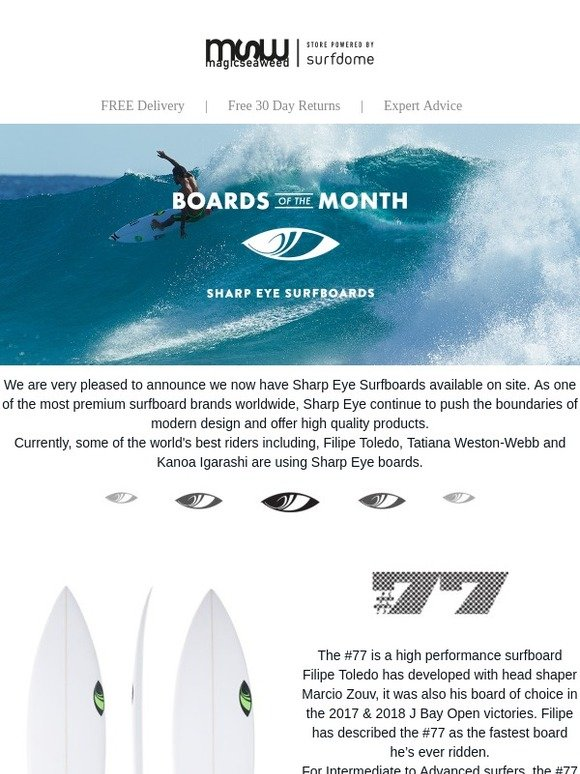Magicseaweed: Boards of the Month: Sharp Eye Surfboards   Milled