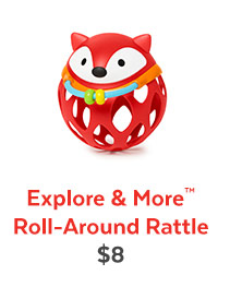 Explore & More™ Roll-Around Rattle | $8