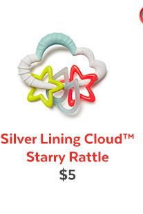 Silver Lining Cloud™ Starry Rattle | $5